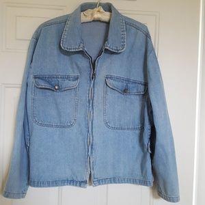 Jacket Denim Vintage light blue wash
